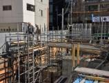 TUTU名古屋新築工事 3工区基礎足場組立