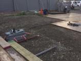 サンクレーア金山新築工事 仮囲い組立