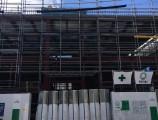 TUTU名古屋新築工事 外部足場組立