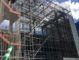 TUTU名古屋新築工事 南西面外部足場組立