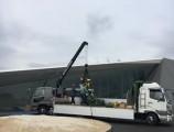 キョクトー新工場新築工事 ショールーム機械搬入据付