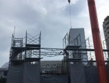 昭和区緑町PJ建設工事 2F躯体外部足場組立