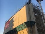 サンクレーア金山新築工事  7F躯体足場組立